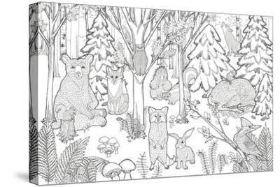 Color the Forest XIII-Elyse DeNeige-Stretched Canvas Print