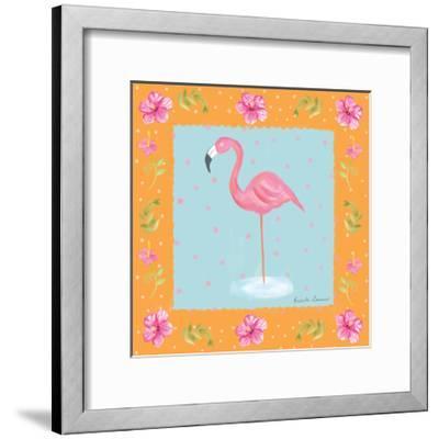 Flamingo Dance IV-Farida Zaman-Framed Art Print