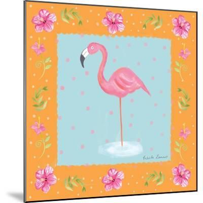 Flamingo Dance IV-Farida Zaman-Mounted Art Print