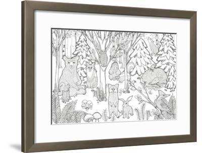 Color the Forest XIII-Elyse DeNeige-Framed Art Print