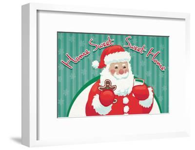 Retro Christmas V Bright-Janelle Penner-Framed Art Print