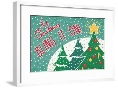 Retro Christmas IV Bright-Janelle Penner-Framed Art Print