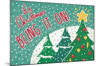 Retro Christmas IV Bright-Janelle Penner-Mounted Art Print