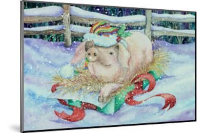 Christmas Pig-Kathleen Parr McKenna-Mounted Art Print