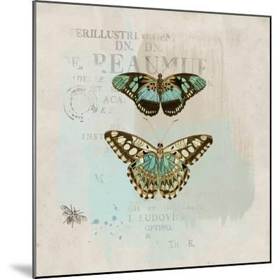 En Bleu III-Katie Pertiet-Mounted Art Print