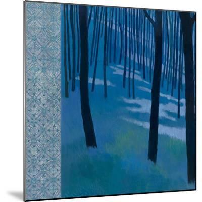 Blue Path to the Edge of the Woods-Kathrine Lovell-Mounted Art Print