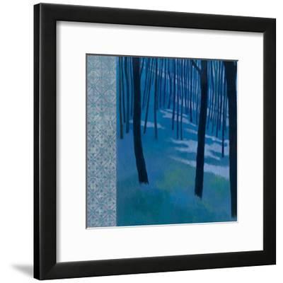 Blue Path to the Edge of the Woods-Kathrine Lovell-Framed Art Print