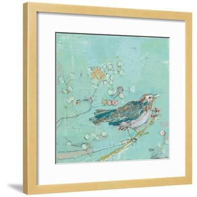 Birds of a Feather with Teal-Kellie Day-Framed Art Print