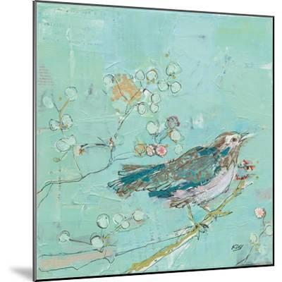 Birds of a Feather with Teal-Kellie Day-Mounted Art Print