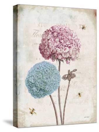 Geranium Study II Pink Flower-Katie Pertiet-Stretched Canvas Print