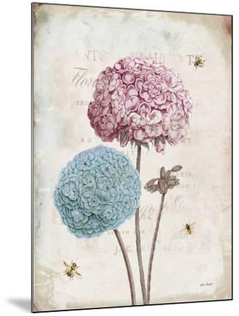 Geranium Study II Pink Flower-Katie Pertiet-Mounted Art Print