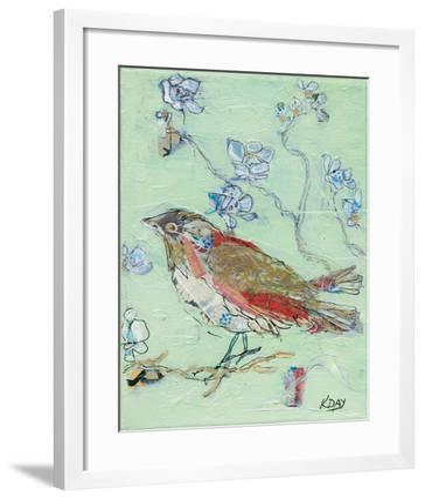 Sea Foam Bird-Kellie Day-Framed Art Print