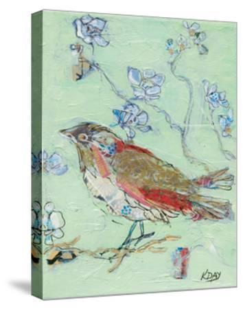 Sea Foam Bird-Kellie Day-Stretched Canvas Print