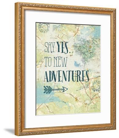 Map Sentiments II-Katie Pertiet-Framed Art Print