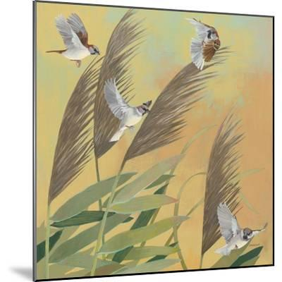 Sparrows and Phragmates Sq-Kathrine Lovell-Mounted Art Print