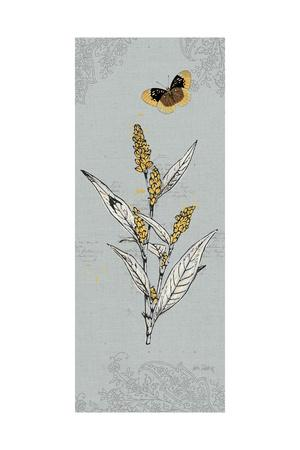 Harvest Fields VII Gray-Katie Pertiet-Framed Art Print
