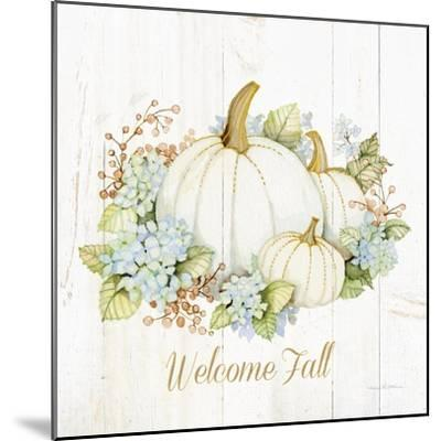 Autumn Elegance I Gold Welcome Fall-Kathleen Parr McKenna-Mounted Art Print