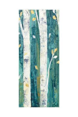 Birches in Spring Panel II-Julia Purinton-Framed Art Print