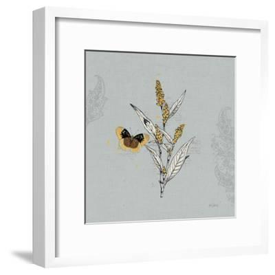 Harvest Fields II Gray-Katie Pertiet-Framed Art Print