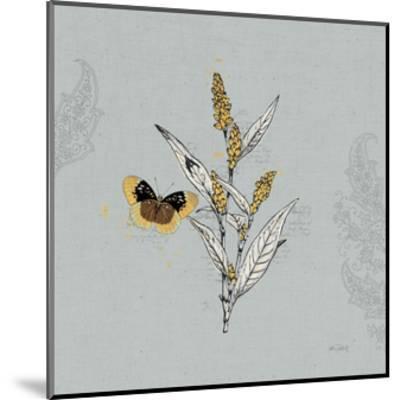 Harvest Fields II Gray-Katie Pertiet-Mounted Art Print