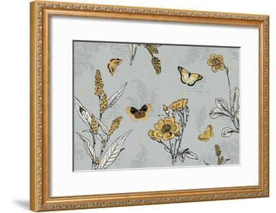 Harvest Fields I Gray-Katie Pertiet-Framed Art Print