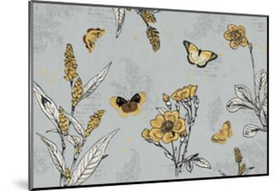 Harvest Fields I Gray-Katie Pertiet-Mounted Art Print