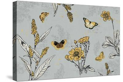 Harvest Fields I Gray-Katie Pertiet-Stretched Canvas Print