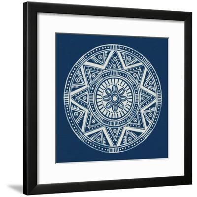 Seville I Dark Blue FB-Kathrine Lovell-Framed Art Print