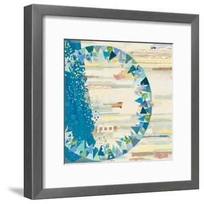 The Calm and The Storm White-Kathy Ferguson-Framed Art Print