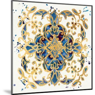 Little Jewels IV Blue-Jess Aiken-Mounted Art Print