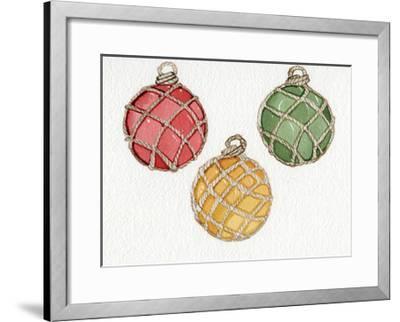 Coastal Holiday Ornament VIII-Kathleen Parr McKenna-Framed Art Print