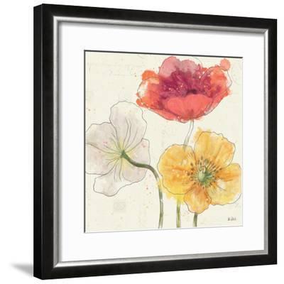 Painted Poppies V-Katie Pertiet-Framed Art Print