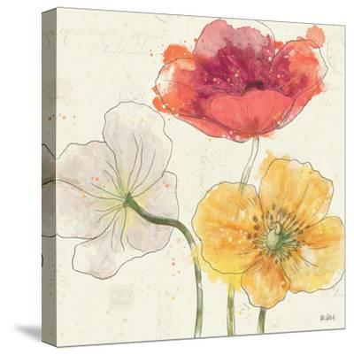 Painted Poppies V-Katie Pertiet-Stretched Canvas Print