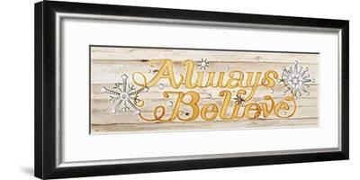 Holiday Sayings IV on Wood-Kathleen Parr McKenna-Framed Art Print