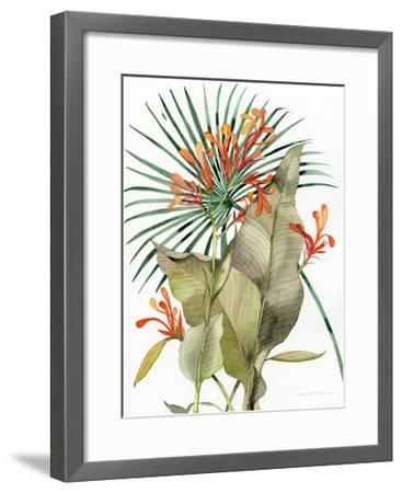 Botanical Flame Lilies-Kathleen Parr McKenna-Framed Art Print