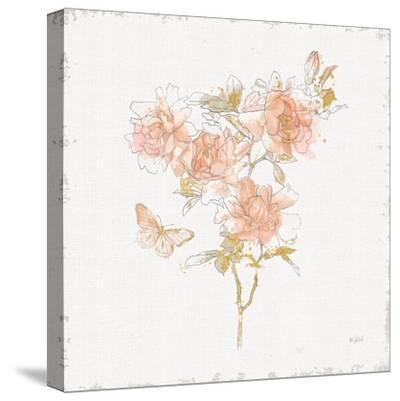 Watery Blooms VII-Katie Pertiet-Stretched Canvas Print