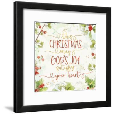 Christmas Sentiments III-Katie Pertiet-Framed Art Print