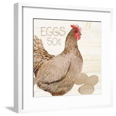 Life on the Farm Chicken III-Kathleen Parr McKenna-Framed Art Print