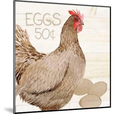Life on the Farm Chicken III-Kathleen Parr McKenna-Mounted Art Print