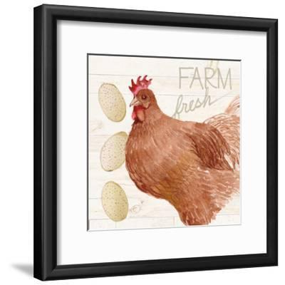 Life on the Farm Chicken II-Kathleen Parr McKenna-Framed Art Print