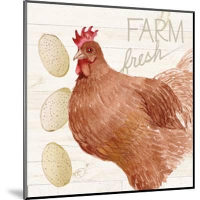 Life on the Farm Chicken II-Kathleen Parr McKenna-Mounted Art Print