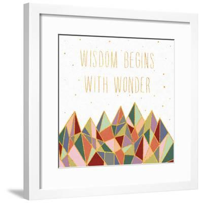 Written in the Stars I on White-Laura Marshall-Framed Art Print