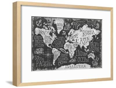 Mythical Map I-Mary Urban-Framed Art Print