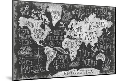 Mythical Map I-Mary Urban-Mounted Art Print