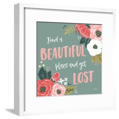 Wildflower Daydreams VIII-Laura Marshall-Framed Art Print