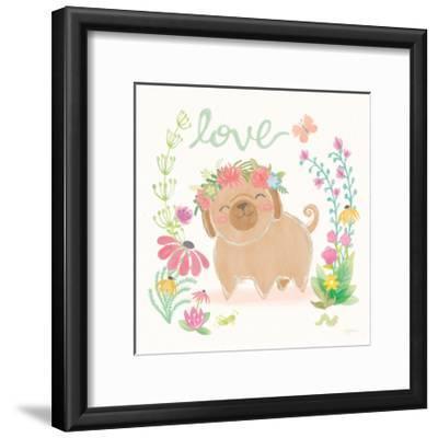 Garden Friends White V Love-Mary Urban-Framed Art Print