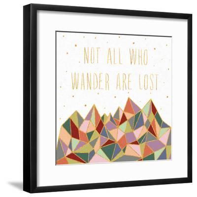 Written in the Stars IV on White-Laura Marshall-Framed Art Print