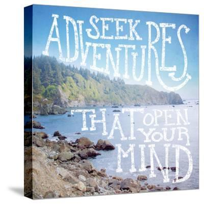 Coastal Adventures III-Laura Marshall-Stretched Canvas Print