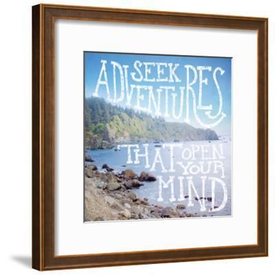 Coastal Adventures III-Laura Marshall-Framed Art Print