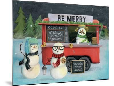 Christmas on Wheels III Light-Mary Urban-Mounted Art Print